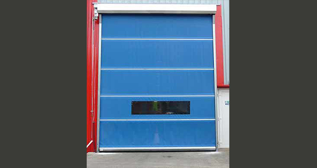 industrial roller mesh door