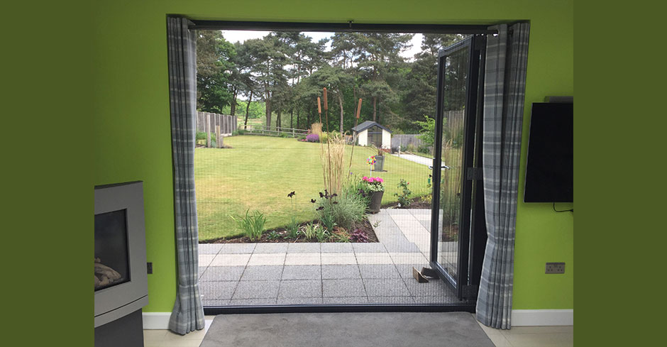 fly screens for bi-folding doors modern pleated fly screens